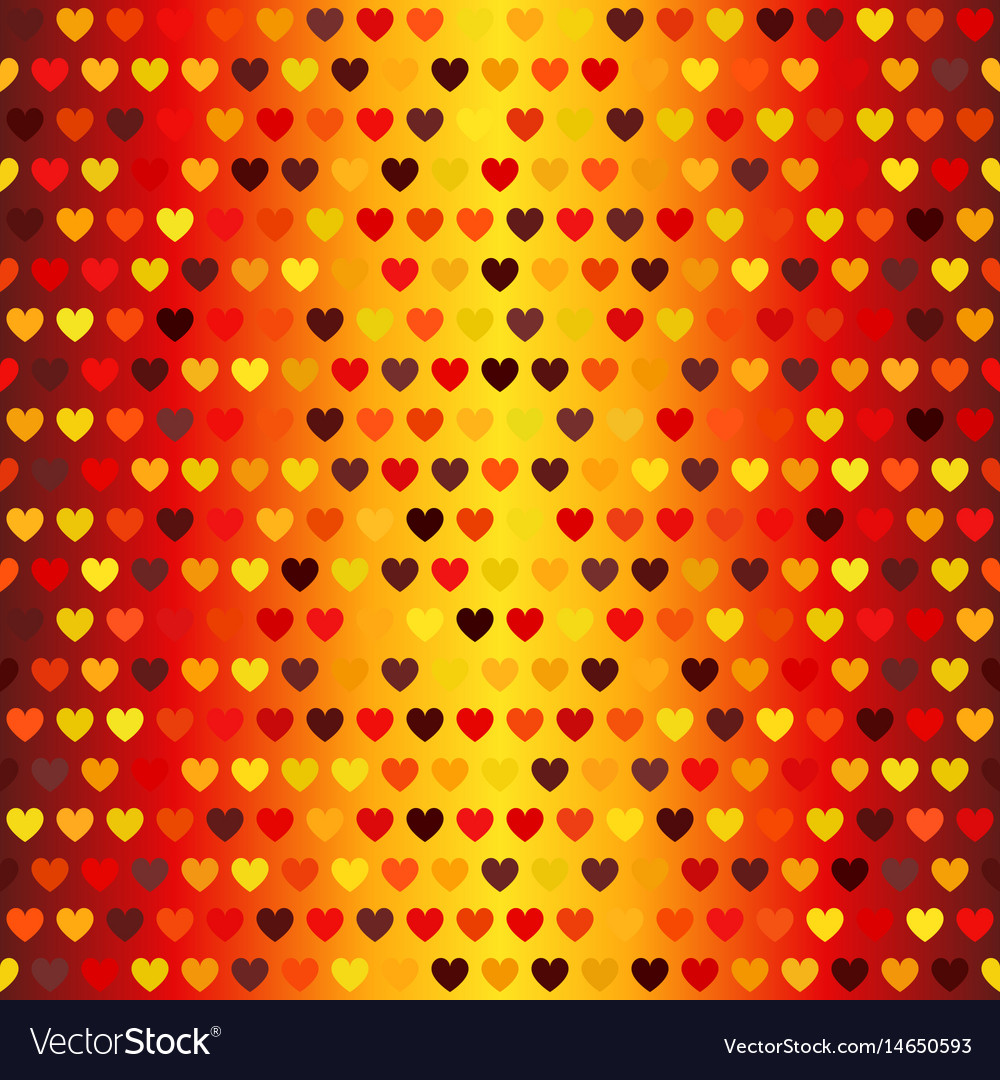 Heart pattern seamless glowing background in vector image