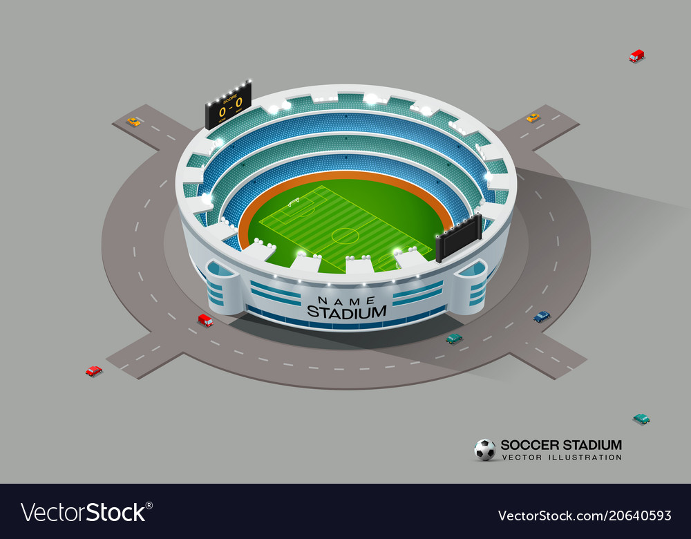 Isometric soccer football stadium vector image