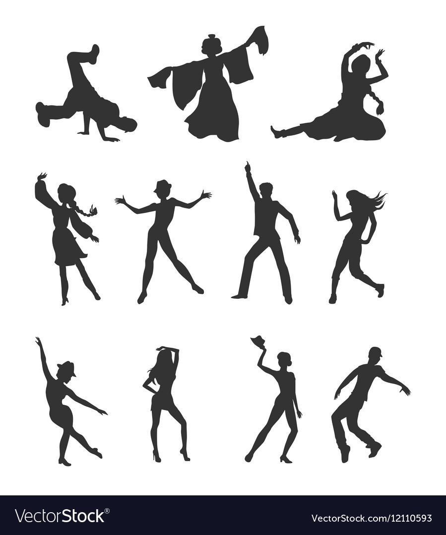 Set of Dancing Peoples Flat