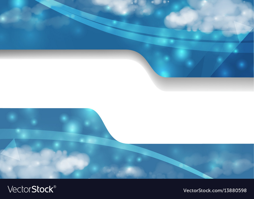 Abstract background decorate with blue cloud vector image