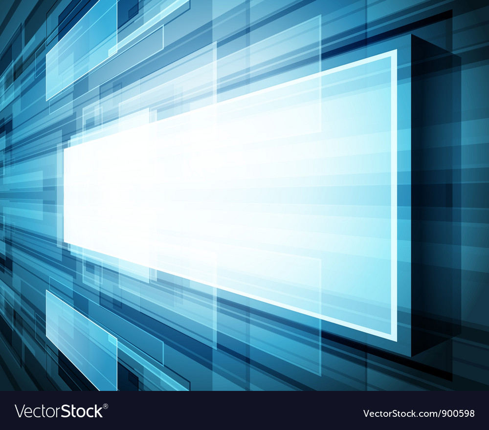 Abstract virtual space with screen