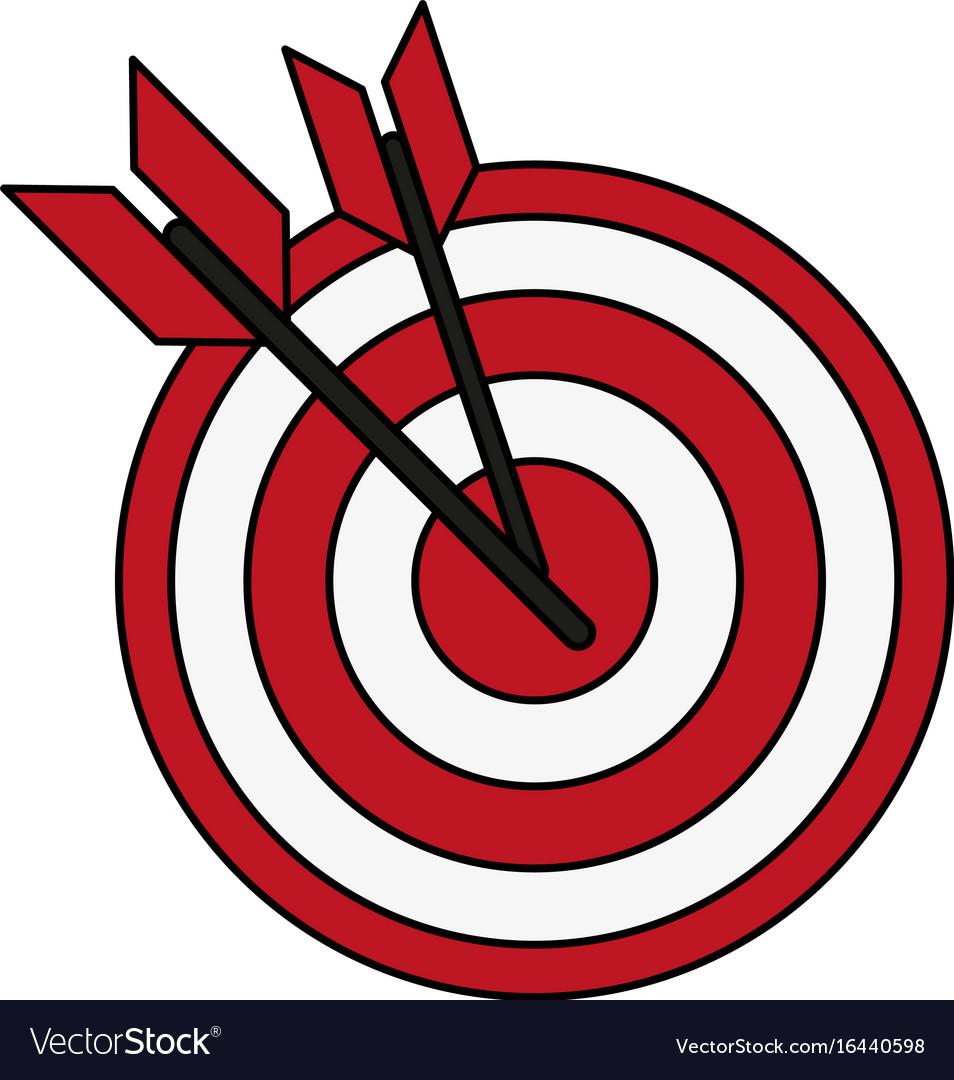 bullseye with dart icon image royalty free vector image