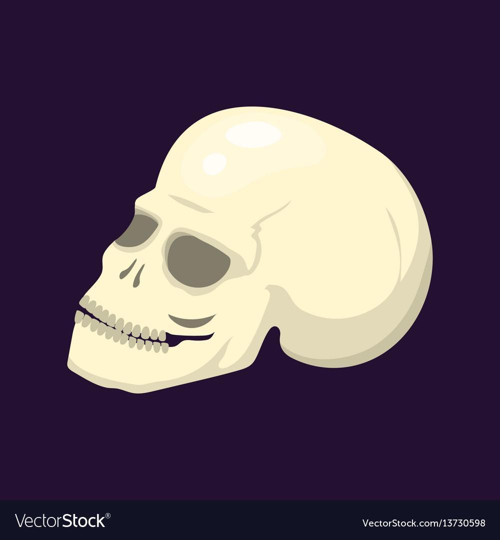 Style skull face halloween horror style tattoo