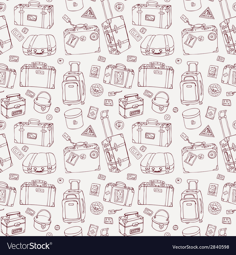 Suitcases Seamless background