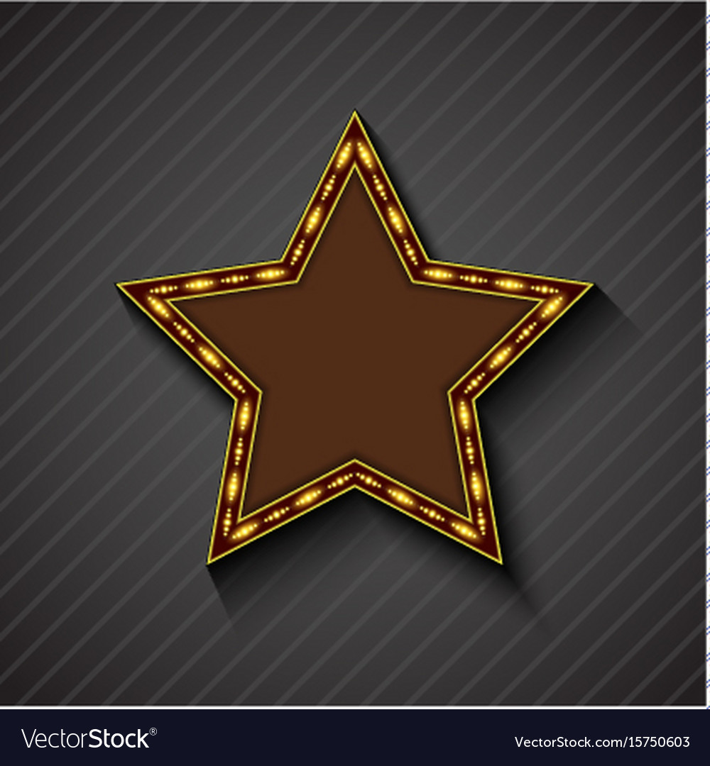Billboard star sign on the on black background vector image