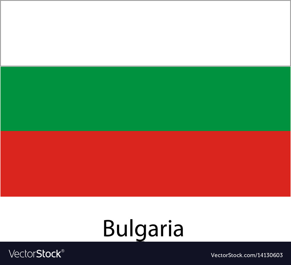 Bulgaria flag official colors and proportion vector image