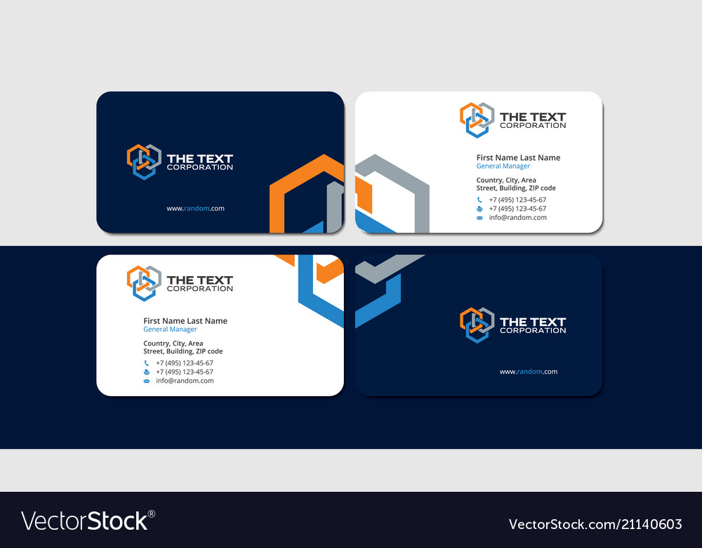 Business card oil and gas industry hexagons Vector Image