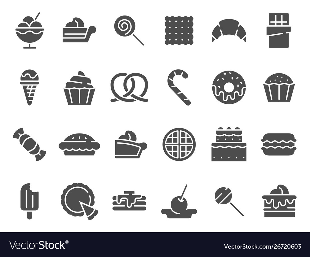 Desserts silhouette icon sweet muffin cakes