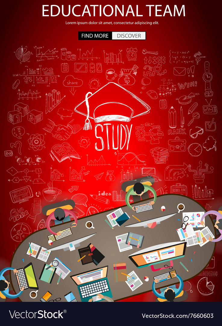 Educational and Learning concept with Doodle