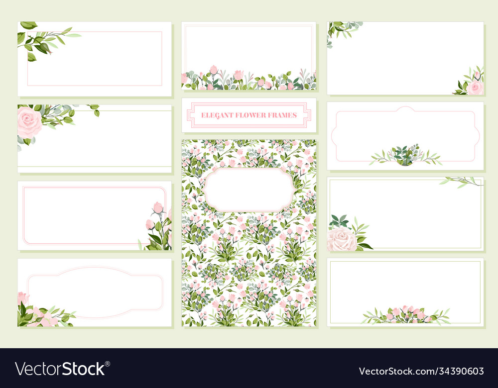 Floral wedding invitation card save date