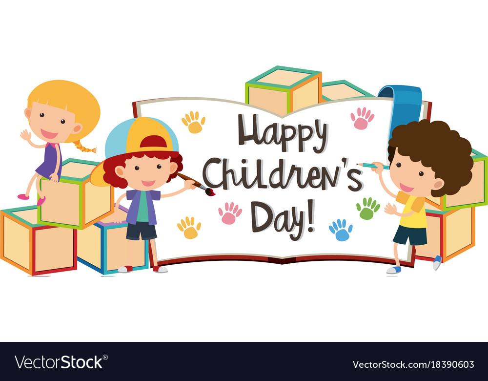Children's day greeting cards free :: Children's day wishes ⋆ بالعربي نتعلم  | Drawing for kids, Happy kids, Cartoon kids