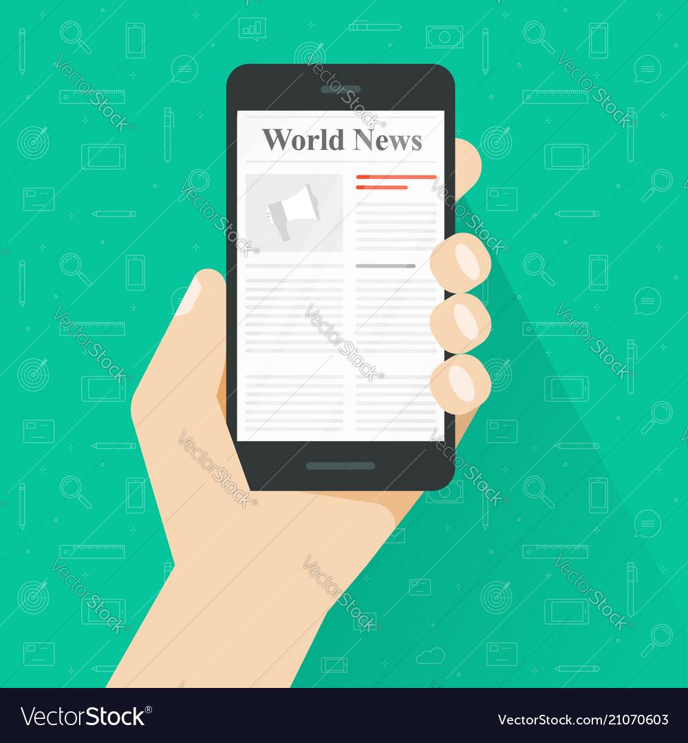 Newspaper reading on smartphone