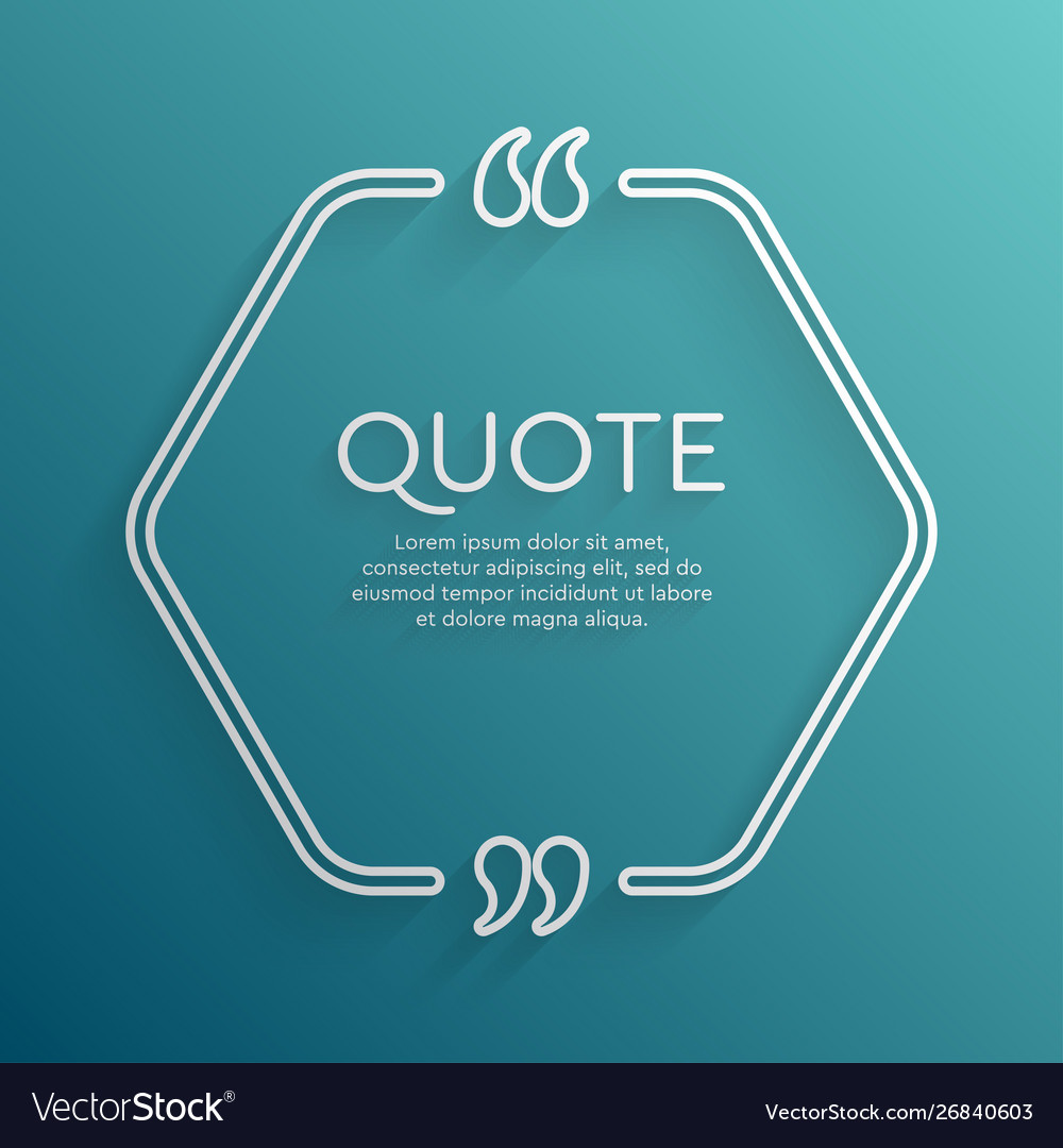 Template blank hex creative white quote