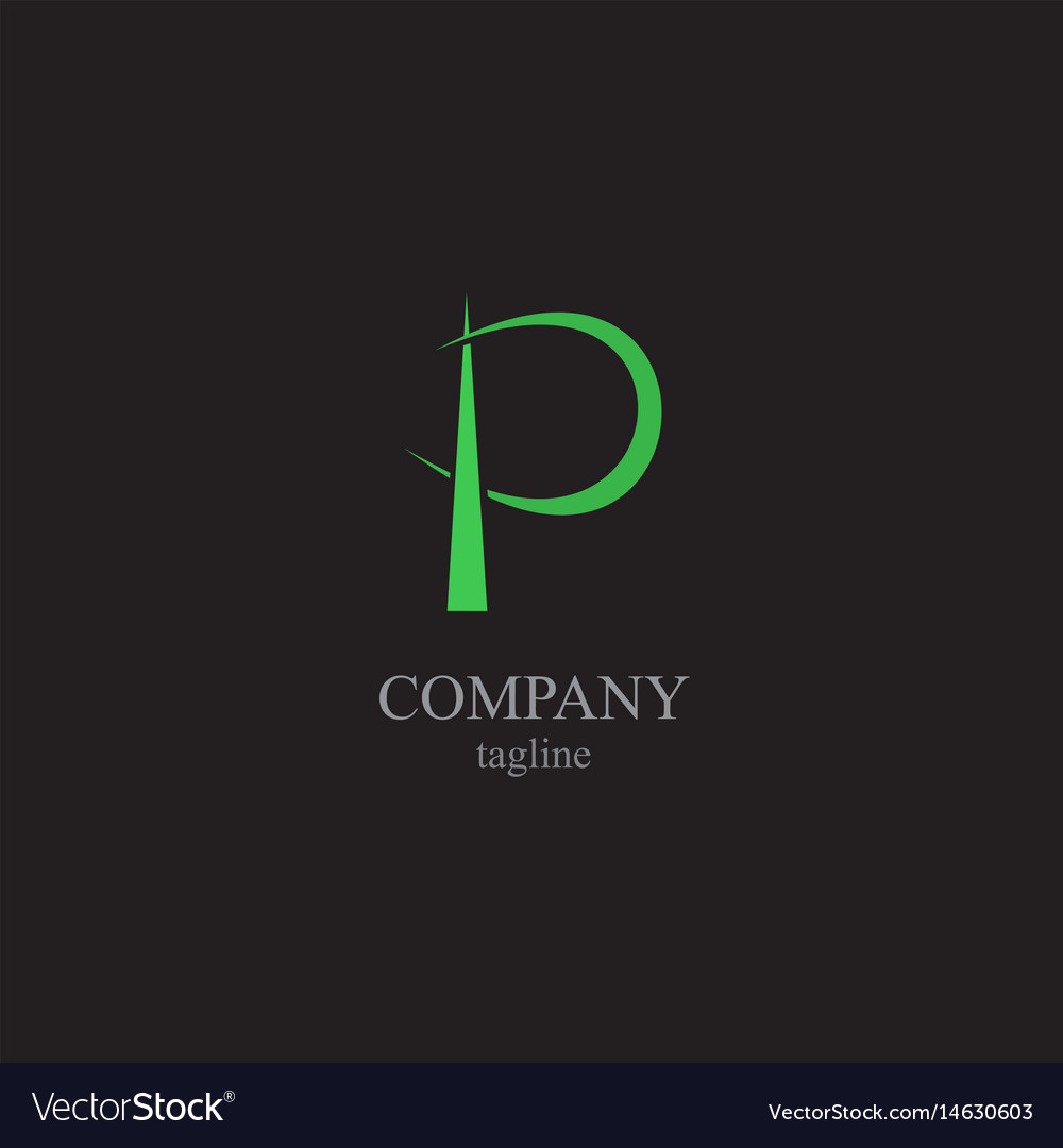 The letter p logo - a symbol of your business