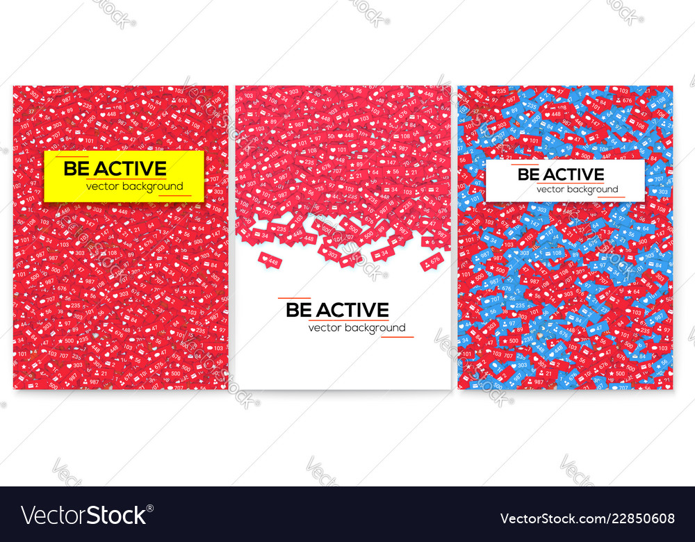Be active set of motivational posters