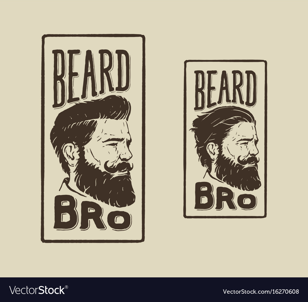 Beard bro vector image