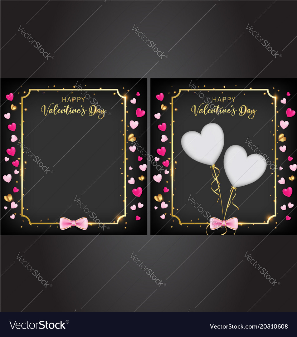 Black valentine day banner