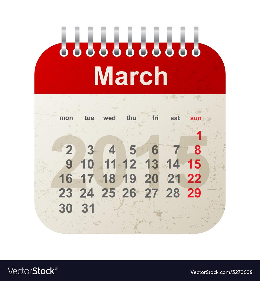 Calendar 2015 - march vector image