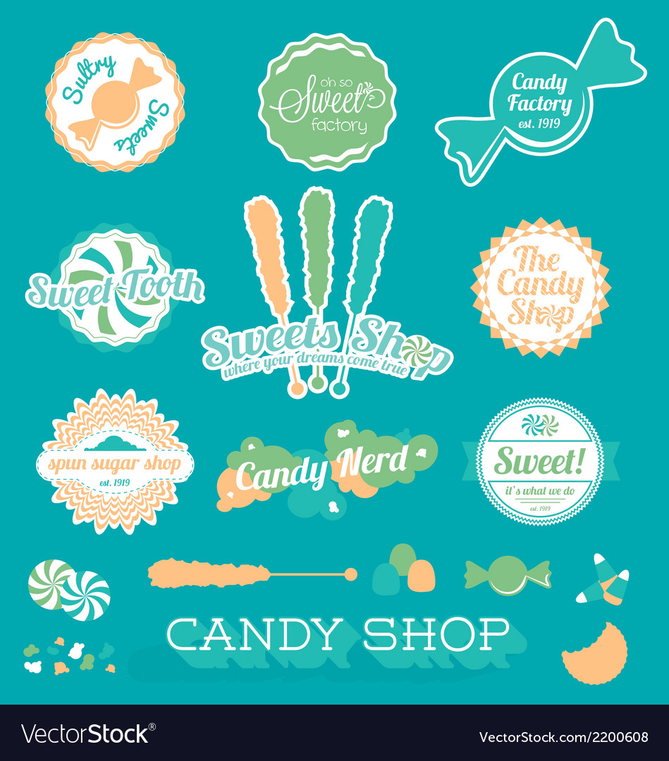 Candy Shop Icons and Labels