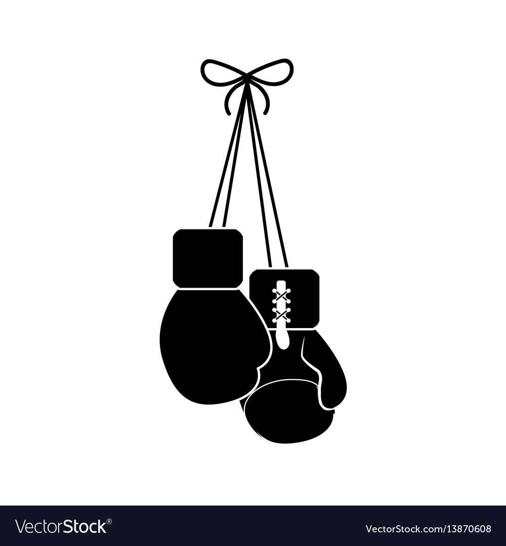 contour boxing gloves hanging icon royalty free vector image rh vectorstock com boxing glove vector image boxing glove vector free download