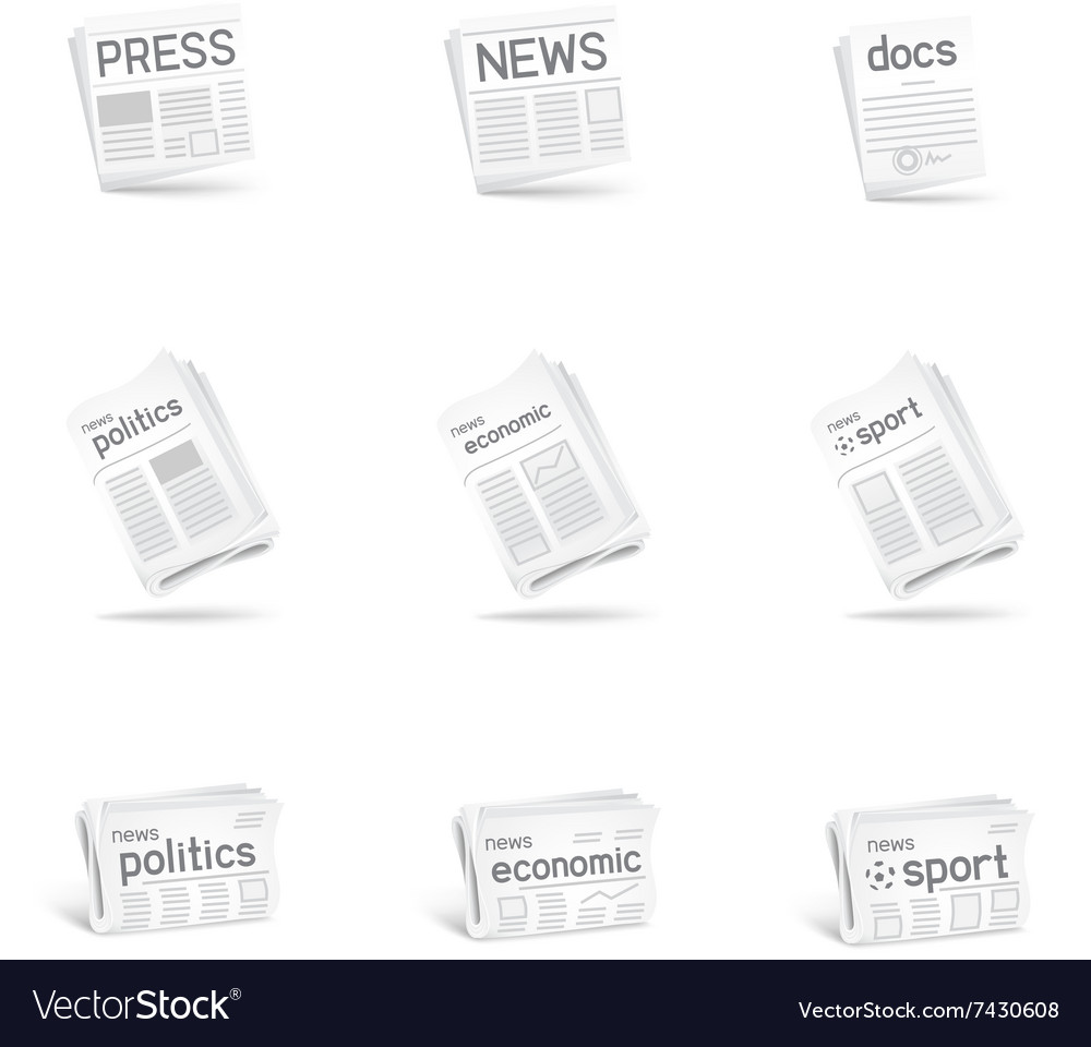 Press icon set vector image