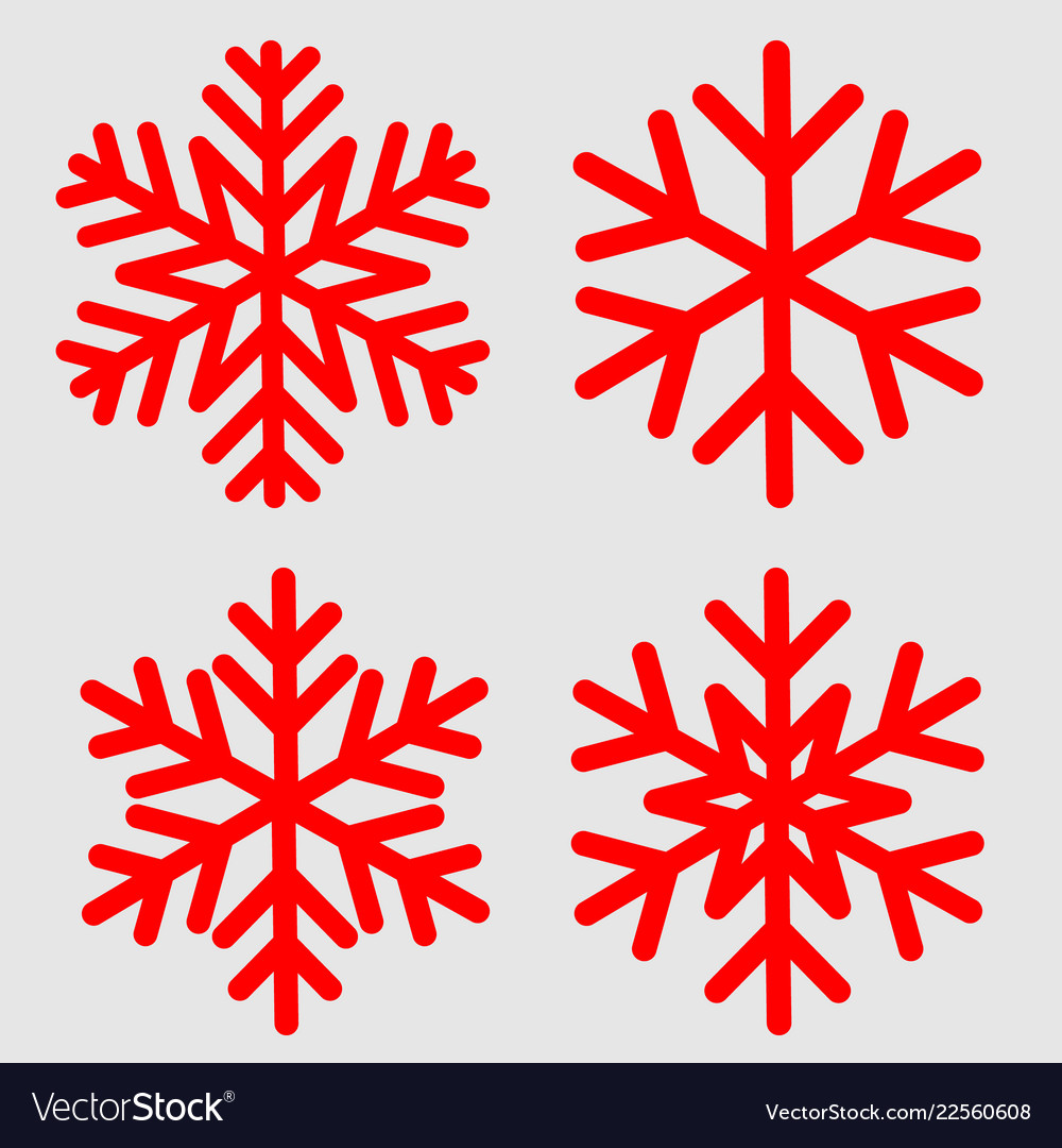 Snowflake Template | Snowflake Template For Winter Holiday Cards Vector Image