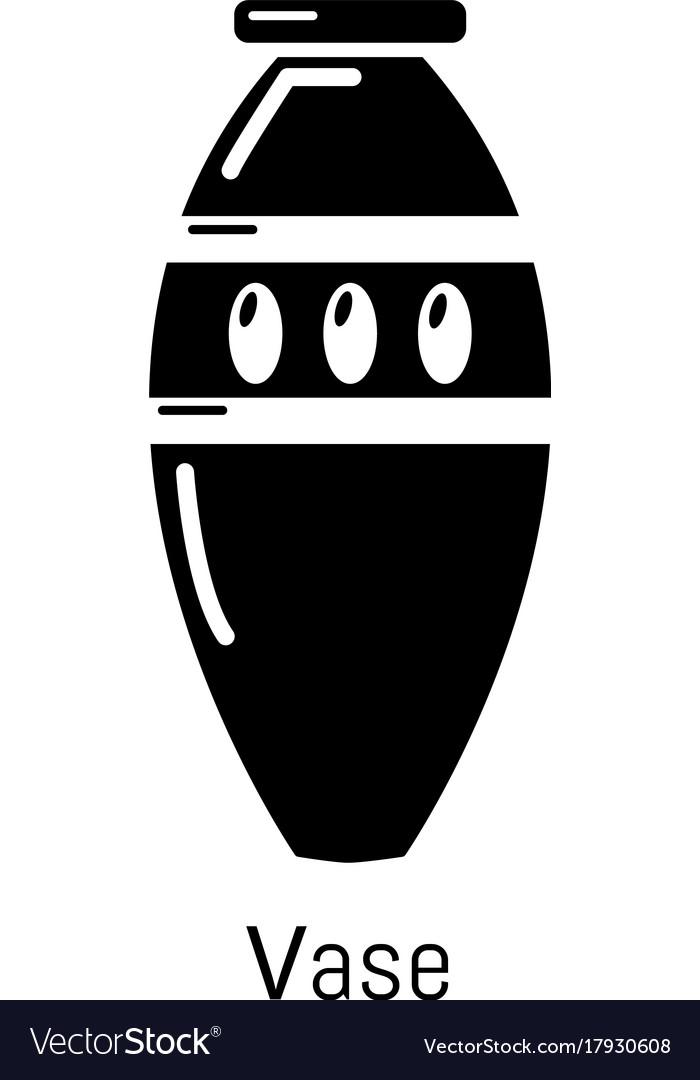 Vase icon simple black style vector image