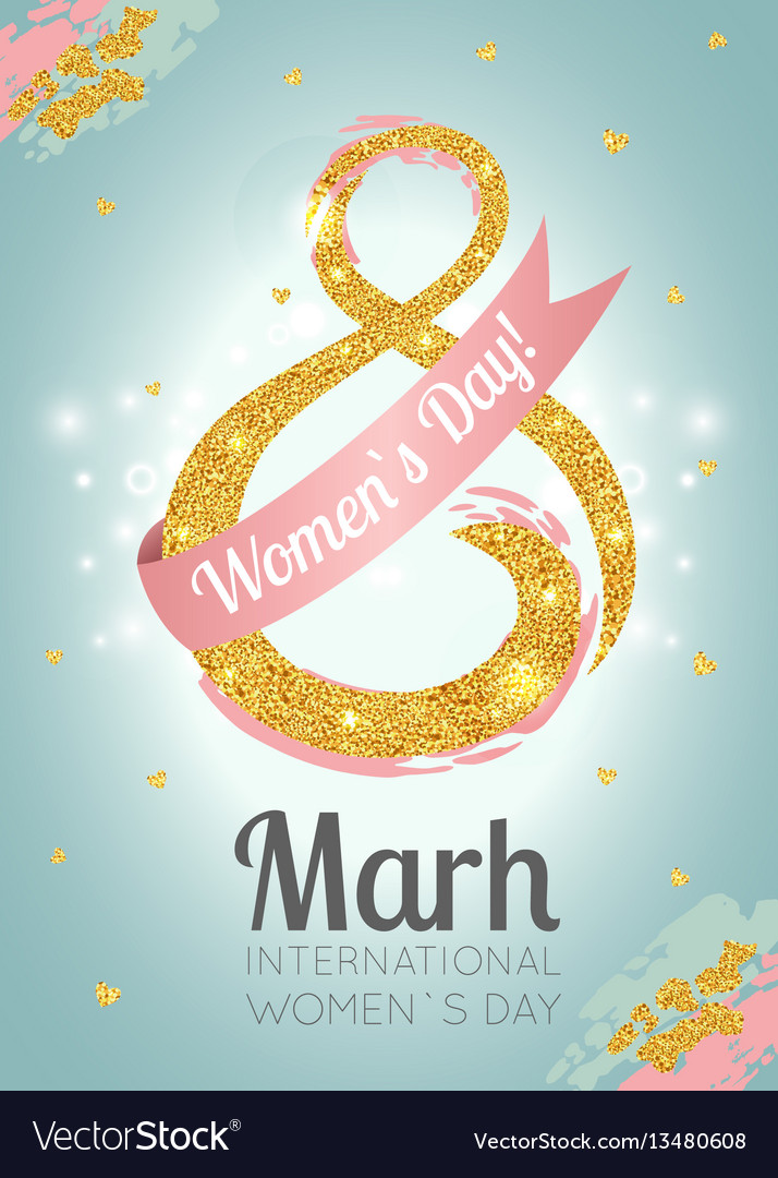 Womens day celebration greeting card