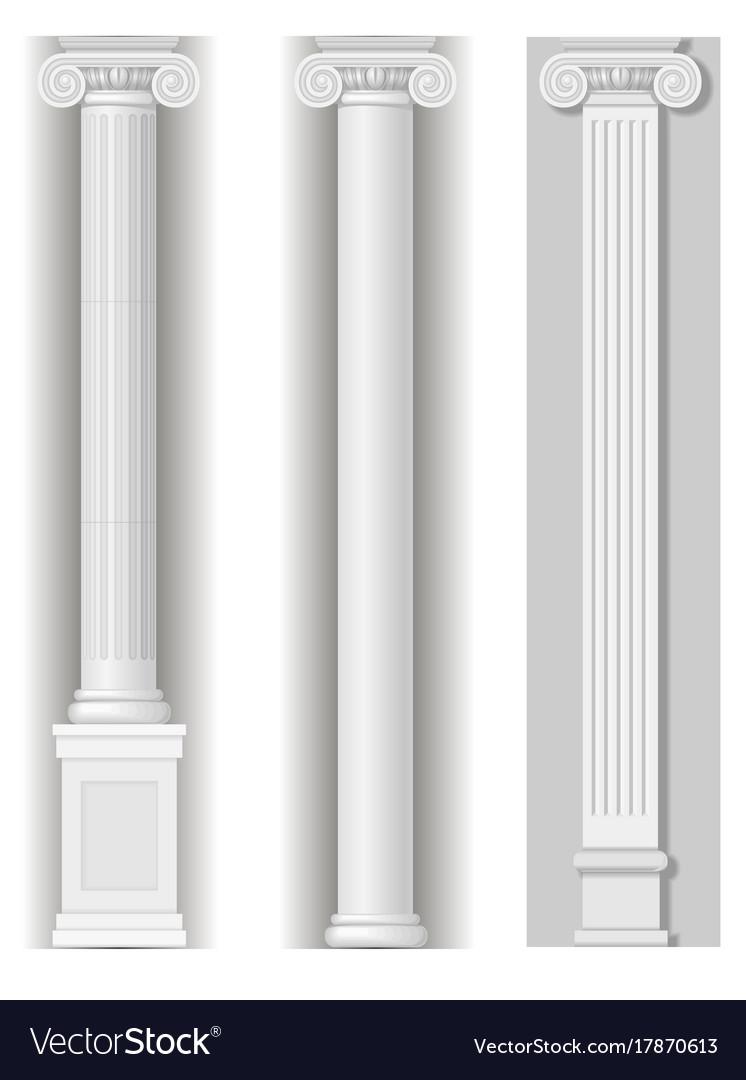Classic antique white columns