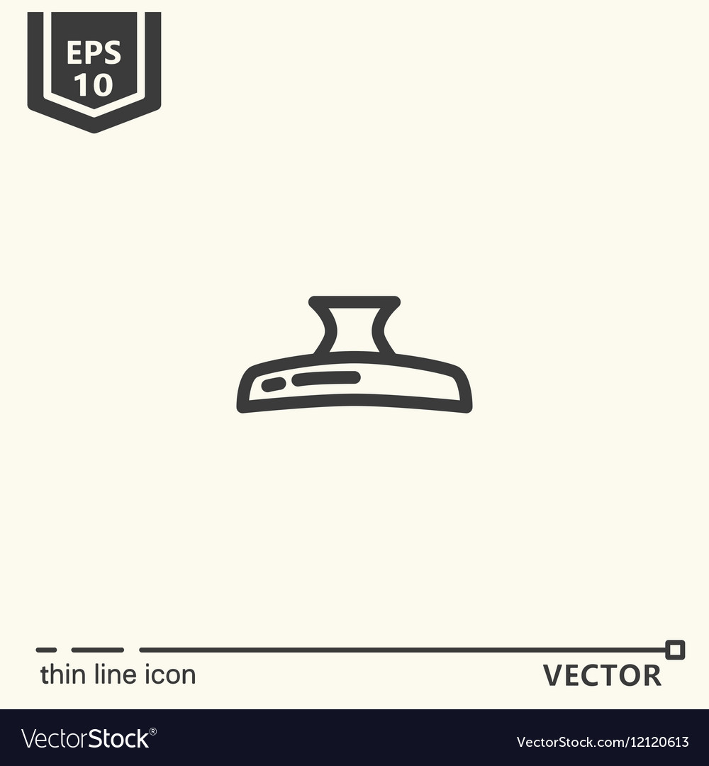 Hairdressing tools Icons series Hair clip