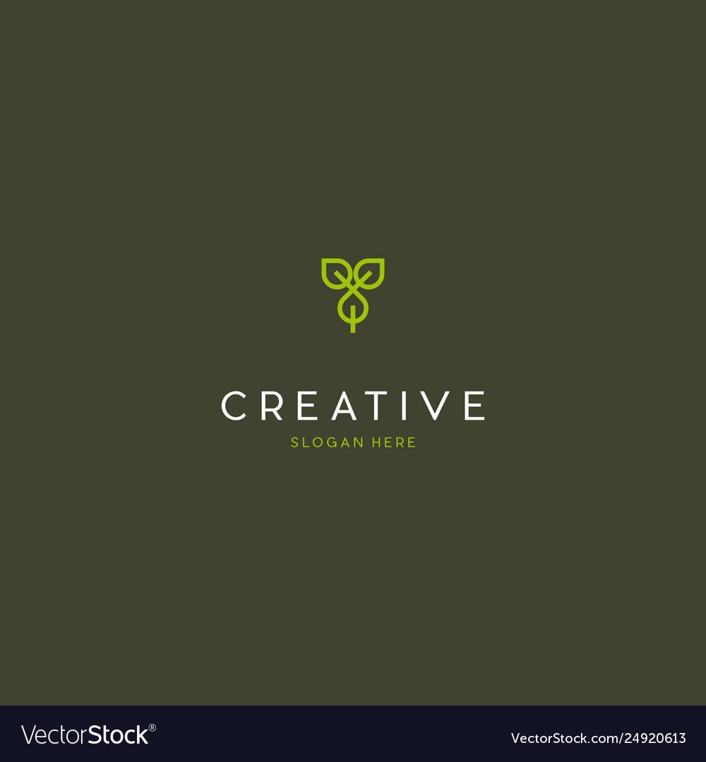 Leaf naturally creative business logo design