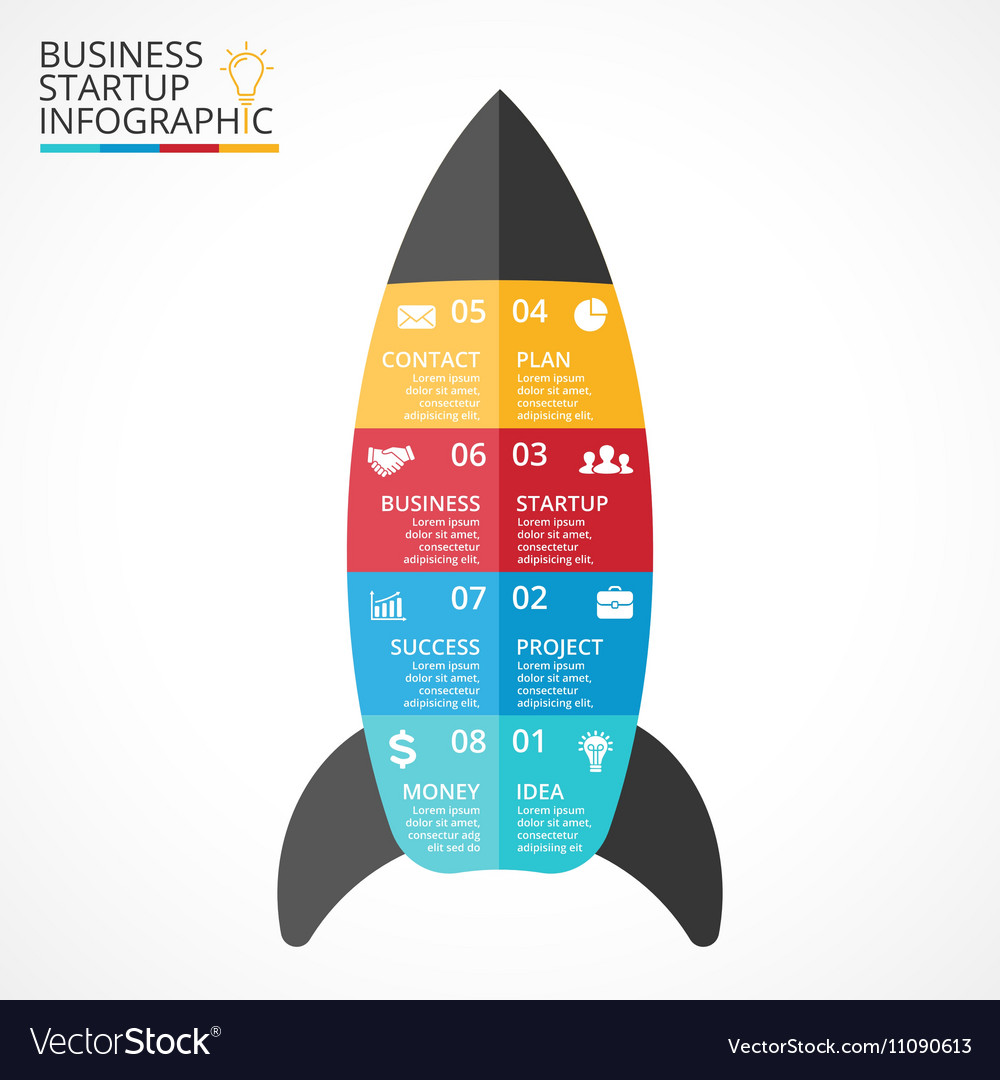 Rocket infographic diagram chart graph royalty free vector rocket infographic diagram chart graph vector image ccuart Images