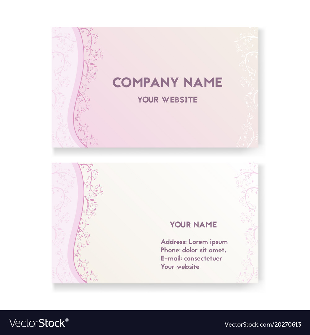Template business card for wedding salon Vector Image