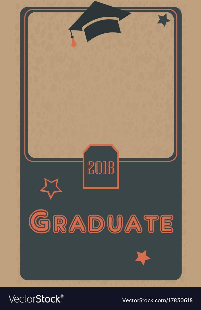 2018 graduate photo frame retro style black and