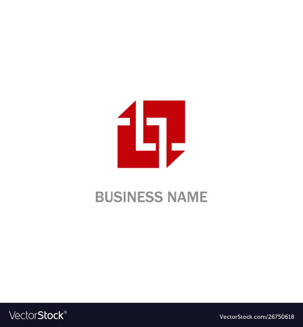 Abstract square design company logo