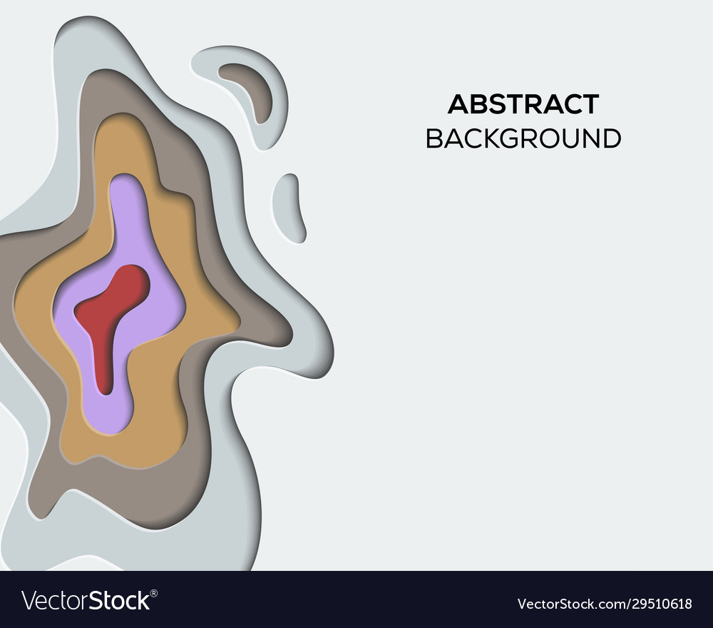 Background paper cut abstract design