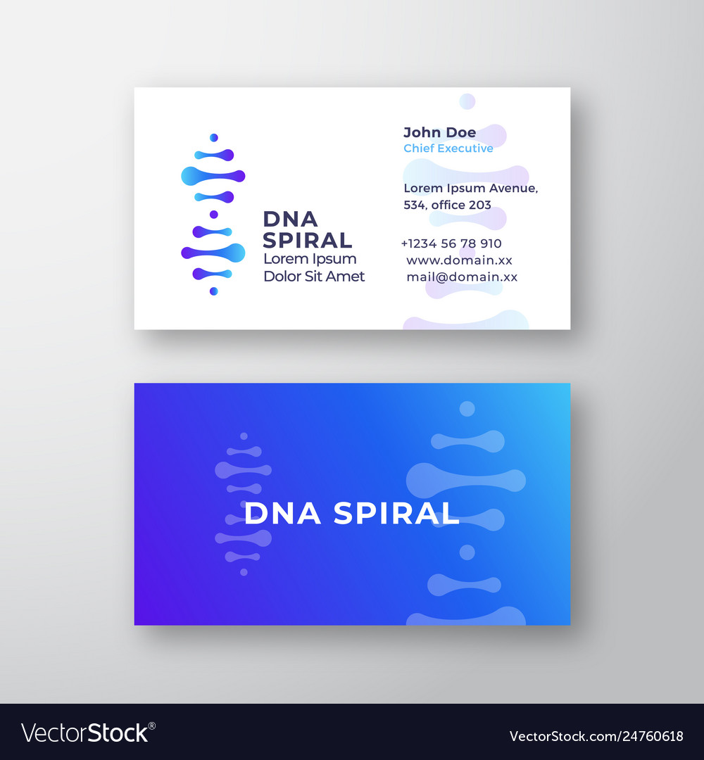 Dna spiral abstract sign or logo
