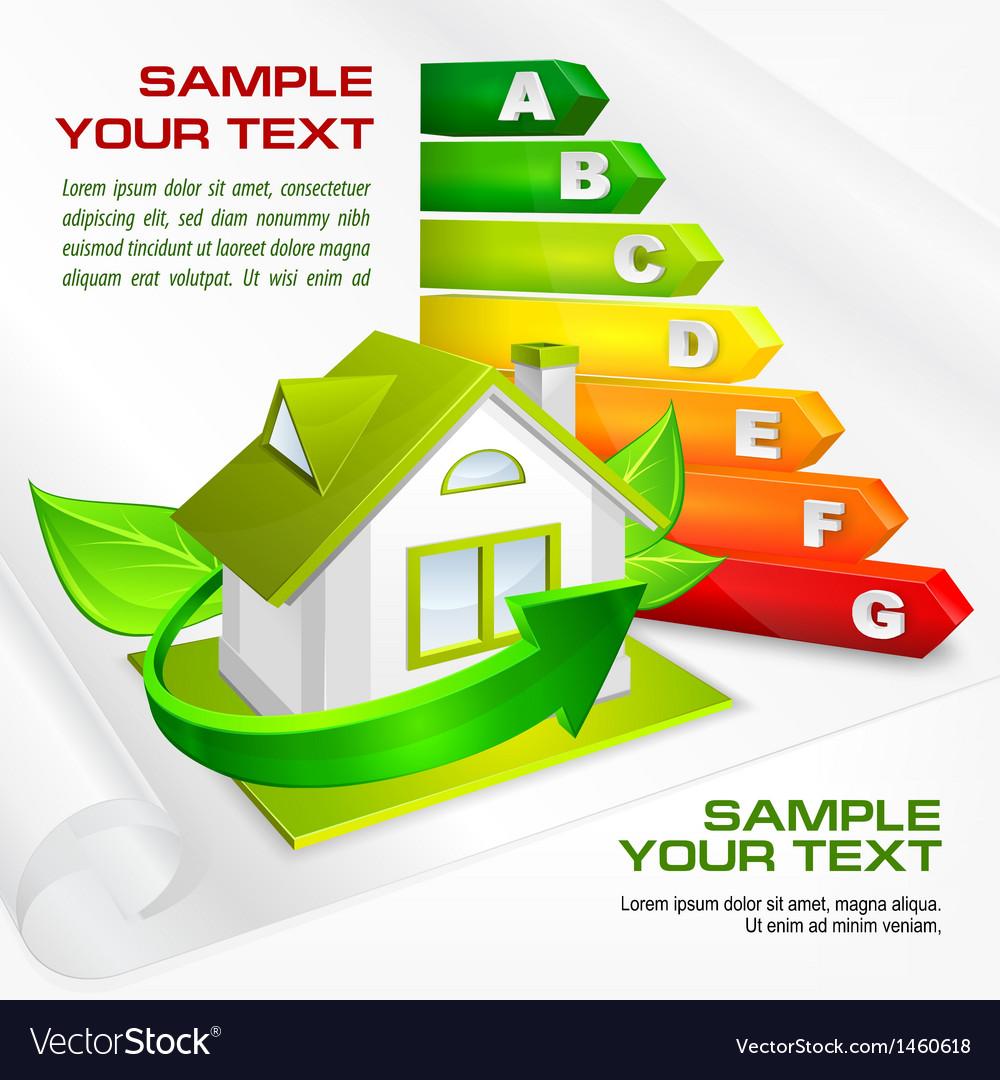 Energy efficiency label house 10 v
