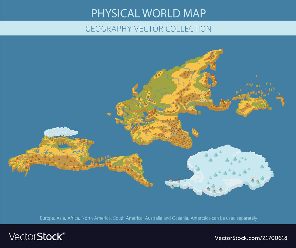 Physical Map Of South America Vector Images 58