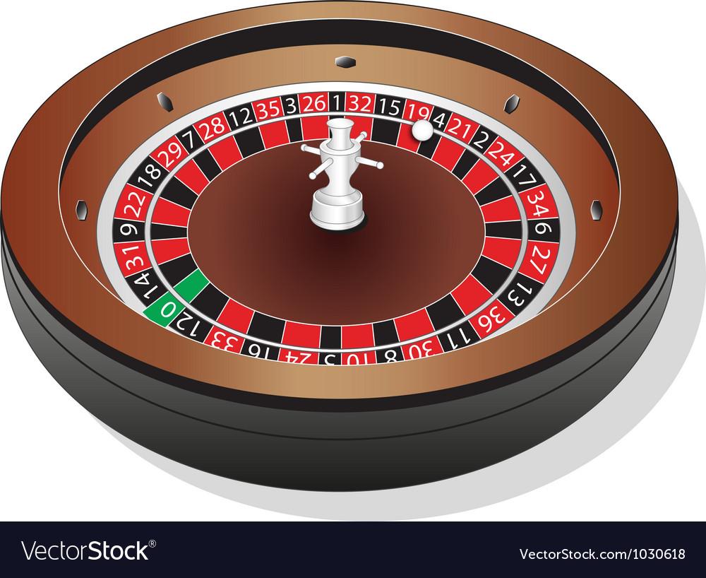 Roulette-Wheel vector image