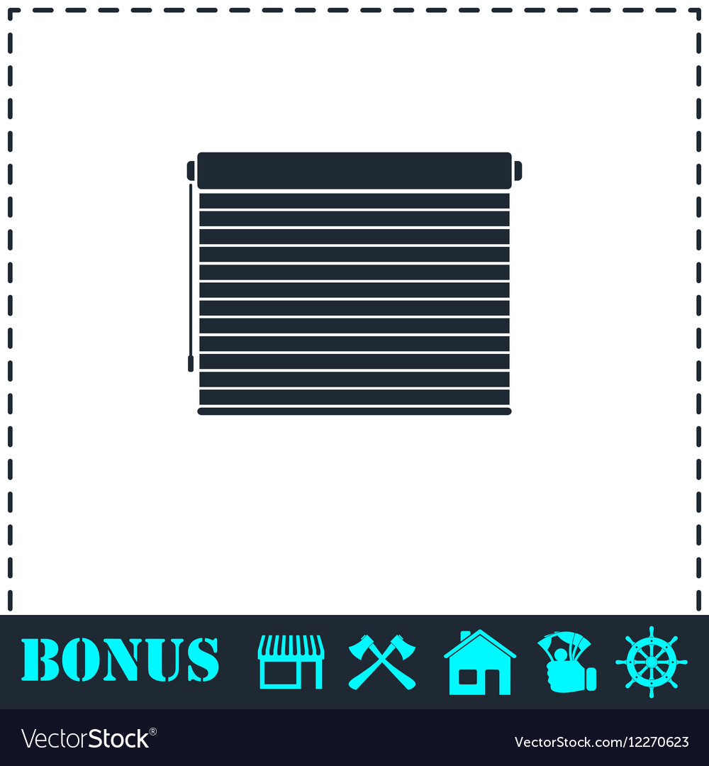 Blinds icon flat