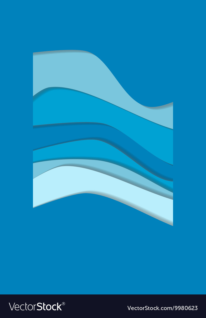 Blue water curve waves background