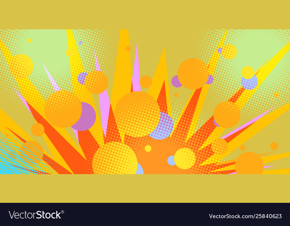 Circles abstract background eighties style 80s