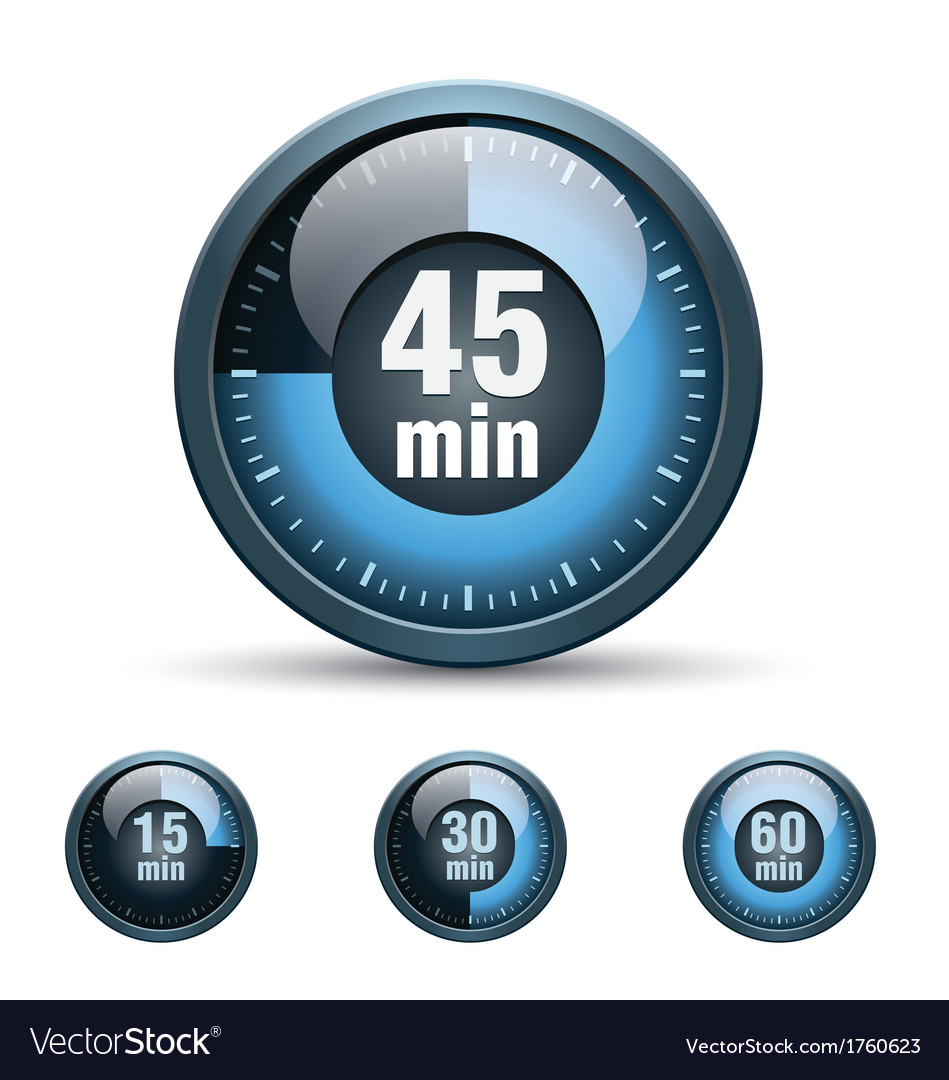 set of timer clock royalty free vector image vectorstock