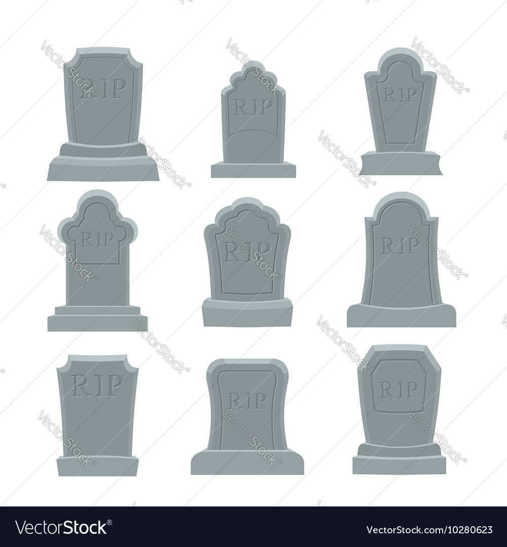 Tomb set Ancient RIP Collection of gravestones