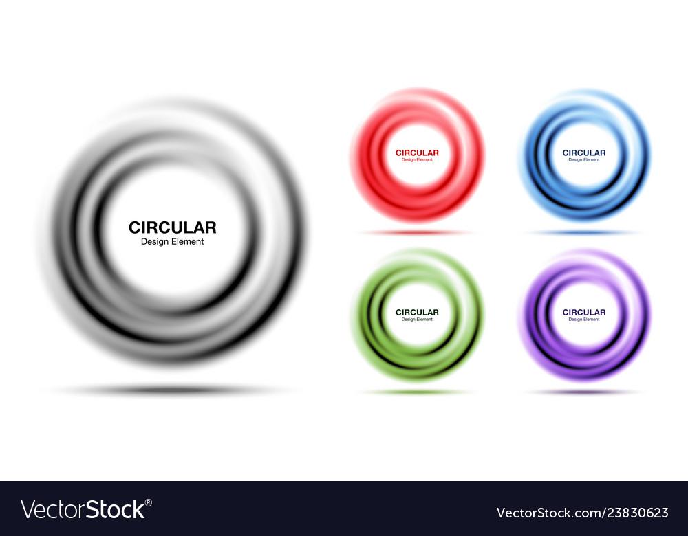 Vortex gradient round frame banner set