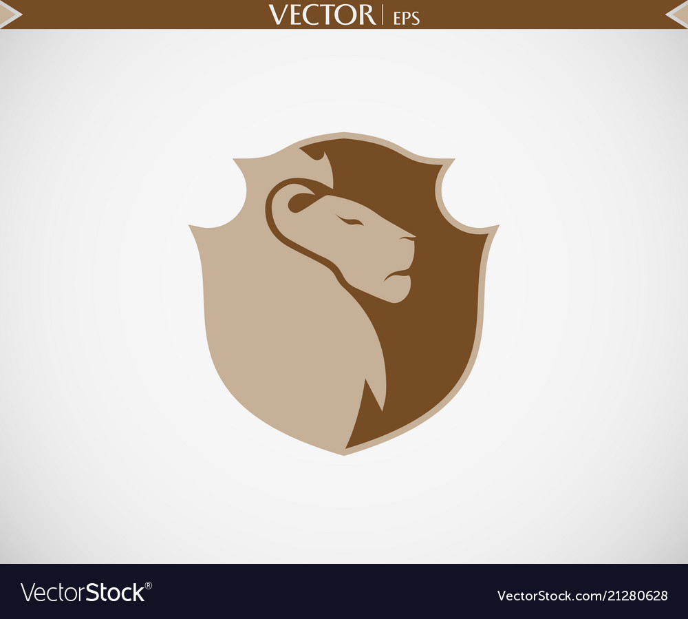 Abstract lion shield logo