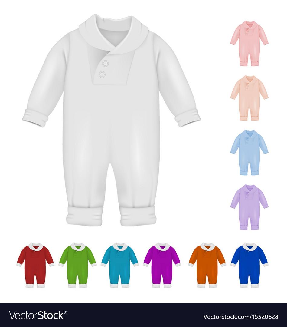 Baby bodysuit blank template