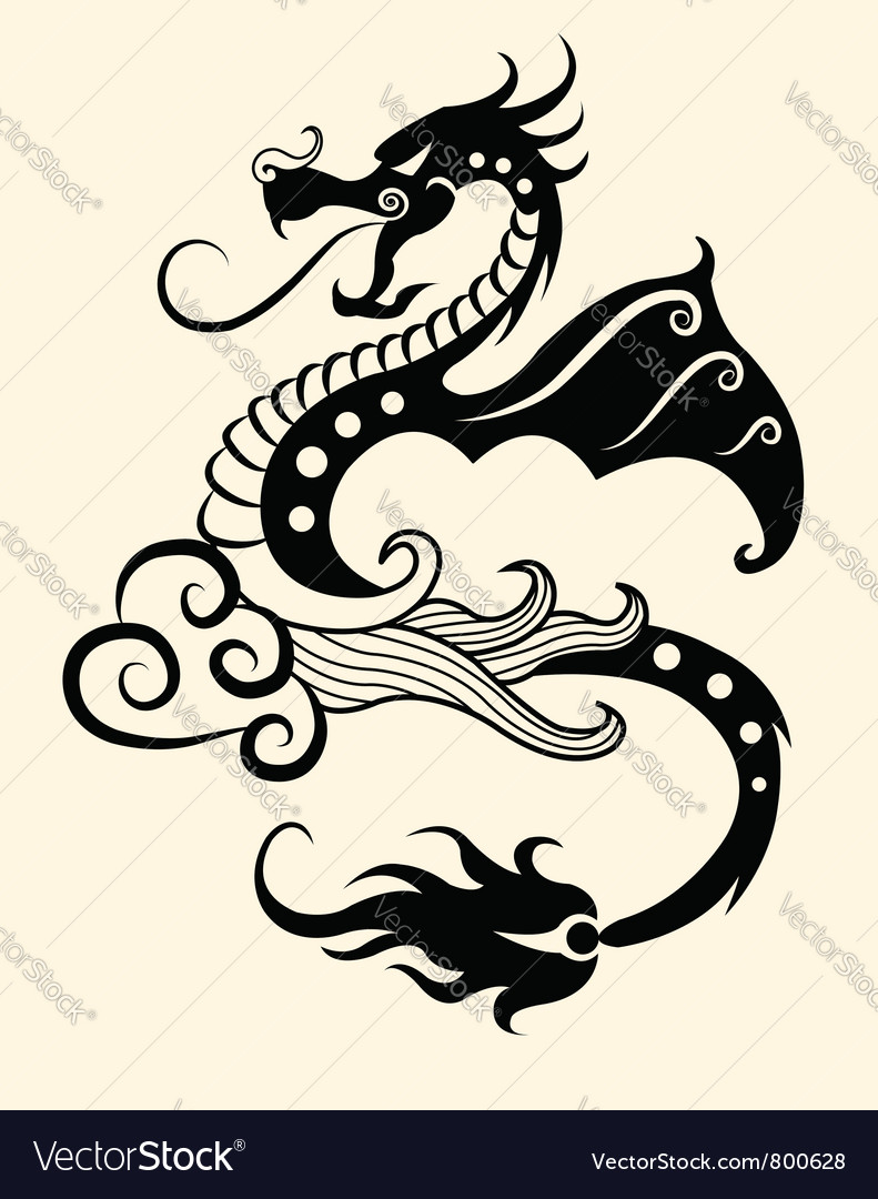 Decorative dragon vector image