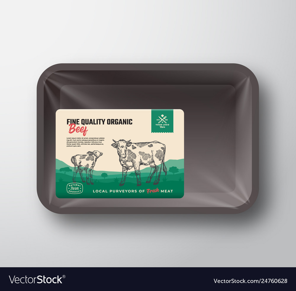 Fine quality organic beef abstract meat